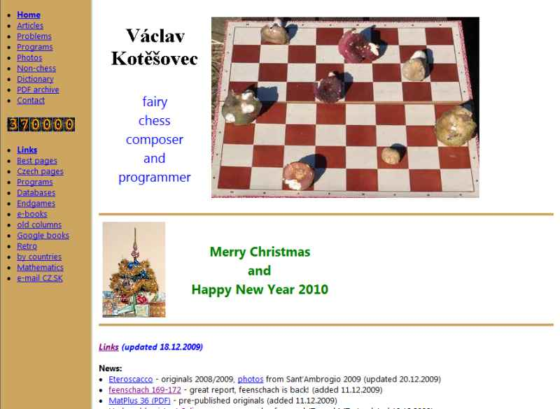 Vaclav Kotesovec chess problems and programs