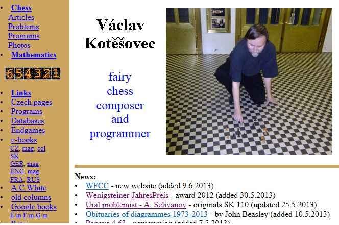 Vaclav Kotesovec chess problems and programs